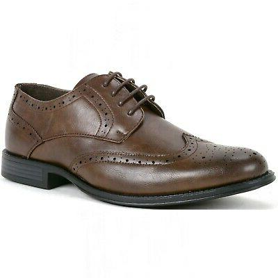 Alpine Swiss Zurich Mens Wing Tip Two Tone Up