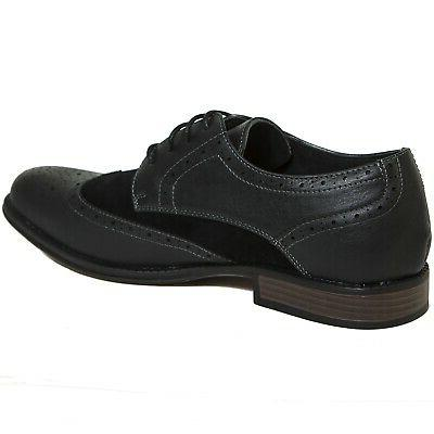Alpine Wing Tip Shoes Two Tone Up