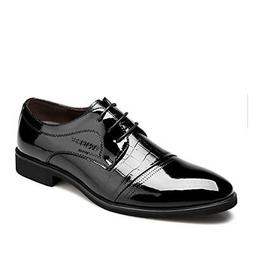 OUOUVALLEY LACE UP PATENT LEATHER OXFORD DRESS SHOES FORMAL