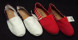 Ladies Canvas Shoes by  Easy USA ~ Slip-On Flats For Beach,