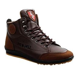 Feitengtd Men's Shoes Leather Boots Sports Casual Shoes Brit