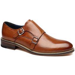 La Milano Mens Leather Double Monk Strap Oxford Slip-on Loaf
