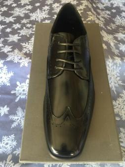 Leather Lace-up Wing-tip Men's Dress Shoes By Stacy Adams.
