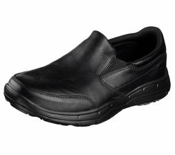 Leather Skechers Black Extra Wide Shoes Men's Comfort Slip O