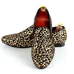 leopard printed loafers men wedding dress shoes