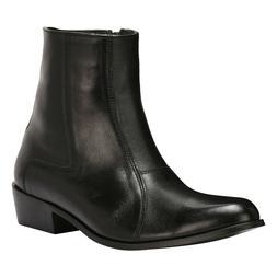 LibertyZeno Men's Zipper Ankle Boots Genuine Leather Formal