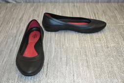 Crocs Lina Flat Womens Synthetic Ballet Flats