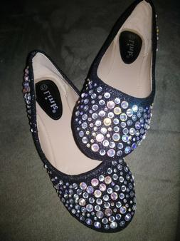 link black sparkle dress shoes girls size 13 new without tag