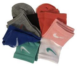 NIKE Little Girl's Quarter Socks Size 5-6 /US Shoe Size 10C-