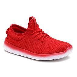 DREAM PAIRS Little Kid 170803K Red Fashion Running Shoes Siz