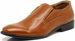 Enzo Romeo LK02 Men Dress Loafers Elastic Slip on Formal, Co