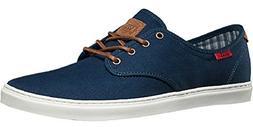 Vans Men's Ludlow Skateboarding Shoe  Dress Blue/White  US W