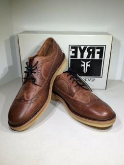 Frye Luke Wingtip Men's Size 11.5M Brown Oxford Dress Shoe
