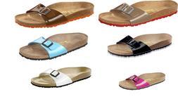 Birkenstock Madrid Birko-Flor Lack Womens Shoes Slides Sanda