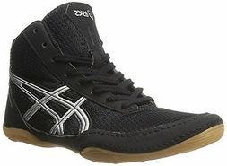 ASICS Matflex 5 GS Wrestling Shoe , Black/Silver, 4 M US Big