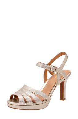 Women's Clarks Mayra Poppy Sandal, Size 6 M - Metallic