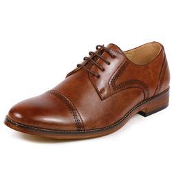 Metrocharm MC125 Men's Cap Toe Lace Up Oxford Dress Shoes
