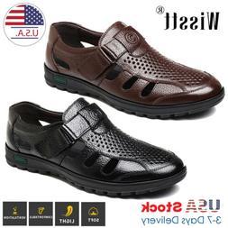 Men Breathable Dress Sandals Closed Toe Straps Huaraches Fis