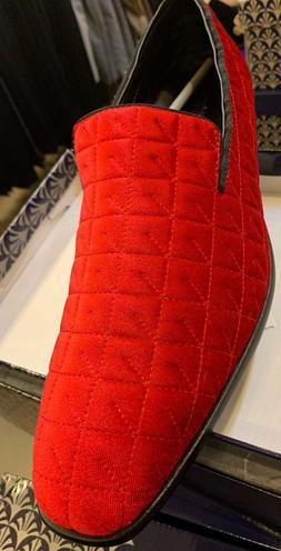 men dress/loafers shoes Red Amali black 005