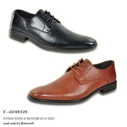 BRAVO Men Dress Shoe KING-1 Classic Oxford with Leather Lini