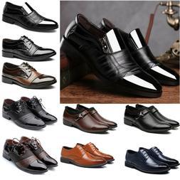 Men Dress Tuxedo Formal Oxfords Shoes Suit Lace up Brogue Wi