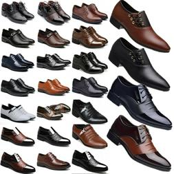 Men Formal Dress Leather Oxfords Shoes Casual Pointed Weddin