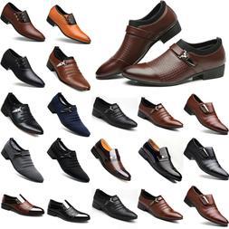 Men Formal Oxfords Business Pointed Toe Dress Shoes Slip On