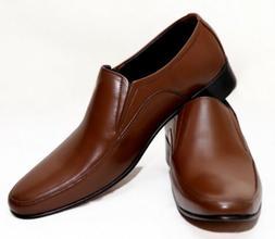 MEN GENUINE LEATHER HANDMADE COMFORTABLE BUSINESS DRESS SLIP