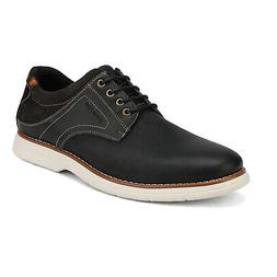 men genuine leather lace up oxford sneakers
