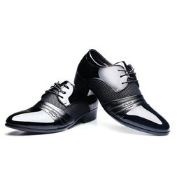New Mens Business Dress Formal Oxfords Leather Shoes Flat La