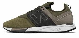 New Balance Men's 247 Luxe Shoes Green with Tan Size 9.5 D