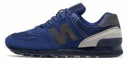 New Balance Men's 574 Shoes Blue With Black