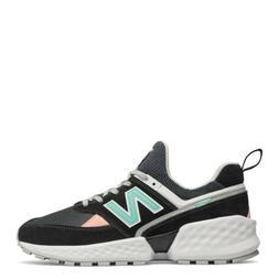 New Balance Men's 574 Sport Shoes: Black/Aqua/Pink/White - M