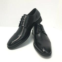 Asher Green Men's Black Genuine Leather Oxford Shoes Perfora