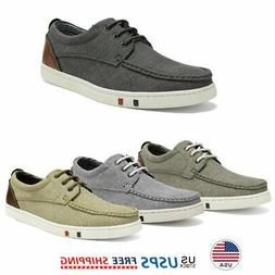 Men's Boat Shoes Lace Up Casual Loafer Oxford Dress Sneakers