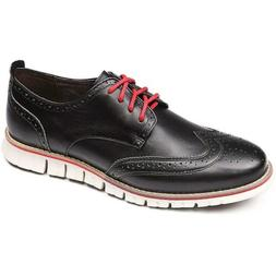 Laoks Men's Brogues Oxford Wingtip Genuine Leather Dress Sho