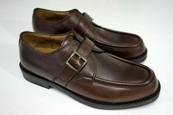Men's Generra Brown Leather Dress Shoes W/ Buckle Sz 10 M NE