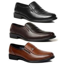 Men's Business Formal Dress Shoes Slip On Leather Oxford Wor