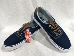 Vans Men's C&L Era 59 Dress Blue/Acid Denim Skate Shoes - As