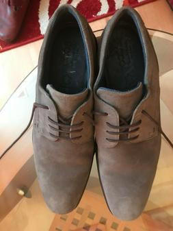 ECCO Men's Cairo Modern Tie Oxford Suede Casual Dress Shoes