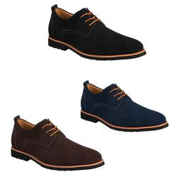 iLoveSIA Men's  Classic Casual Leather Suede Oxfords Shoes F