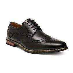 Men's Classic Moda Oxford Wingtip Lace Up Modern Dress Shoes