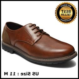 Men's Classic Plain Toe Splicing Outdoor Oxford Dress Shoes