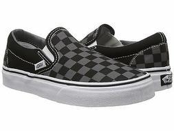 Men's Vans Classic Slip-on Black Pewter Checkerboard Fashion