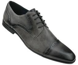 Amali Men's Classic Smooth Cap Toe Lace Up Dress Shoe : Styl