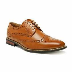 Men's Classic Moda Oxford Wingtip Lace Up Modern Dress Shoes