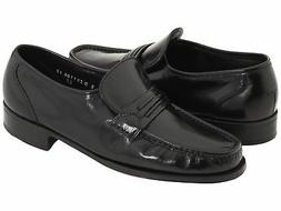 Florsheim Men's Como leather dress Black Shoes 17089-01