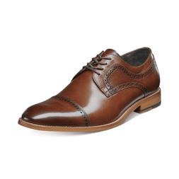 Stacy Adams Men's Dickinson Cap Toe Oxfords Cognac