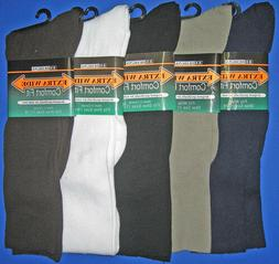 Extra Wide Men's Dress Non-Binding Sock /  For Medical Use &