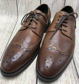 Asher Green Men's Dress Shoes Brown Leather Wingtip Oxford L